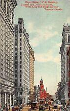 Royal Bank, CPR Building Traders & Dominion Bank Toronto Canada 1911 Postcard