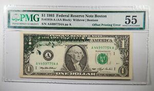 fw K//A FRN $1 1993 – Uncirculated