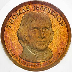 2007-S PRESIDENTIAL DOLLAR THOMAS JEFFERSON ICG PR70 DCAM FIRST STRIKE
