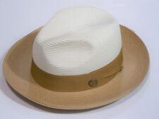 BRUNO CAPELO MILAN STRAW HAT SALVATORE BEIGE/SAND SIZE- SMALL RETAILS $65.00