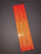3M Red Engineer Grade Prismatic 3432 Adhesive Reflective Tape Strip 50mm x 200mm
