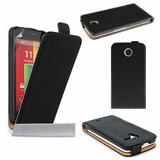 Accessories For Motorola Handsets Real Genuine Leather Flip Phone Case Cover