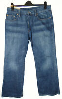 Teddy Smith Loose Fit W34 L30 Mens Blue Skater Denim Jeans