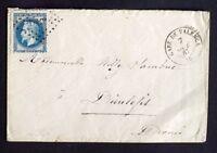 1867 France lettre N°29 Obl Amb. CàD t.15 Gare de Valence 25 (sans ()) AA33