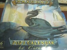 DRAGONS BY CIRUELO 2021 16 MONTH WALL CALENDAR NEW SHRINK WRAPPED
