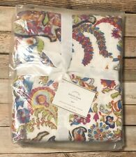 Pottery Barn Felicity Pillow Sham Euro Bright Colors Boho Paisley Multi New Pb