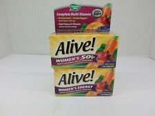 2 NATURES WAY ALIVE WOMEN'S  ONCE DAILY MULTI-VITAMIN 50 TABS 11/20 CR 1053