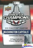 2018 Upper Deck Washington Capitals Stanley Cup Champs Complete 30 Card Box Set