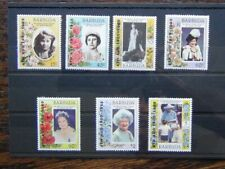 Barbuda 1985 85th Birthday of Queen Elizabeth the Queen Mother set MNH