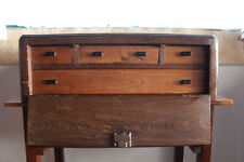 A Antique Continental Renaissance Revival Fall-Front Cabinet, Table Cabinet