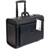 """AlpineSwiss 19"""" Wheeled Briefcase Rolling Case Sales Sample Pilot Lawyer Attache"""