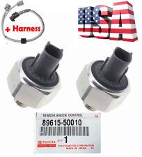 2 OEM DENSO 89615-50010 Knock Sensor &Harness for TOYOTA 4Runner MR2 LEXUS LS400