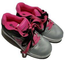 Heelys Asphalt 2-Wheel X2 GIRLS HEELYS PINK Gray Sz 5 Youth Womens 6 Skate Shoes