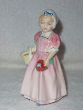 "Vintage ROYAL DOULTON ""TINKLE BELL"" Little Girl With Basket FIGURINE HN 1677"
