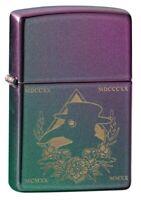 Zippo Plague Doctor Mask Design Iridescent Matte Windproof Pocket Lighter, 49...
