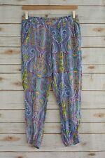 Cynthia Rowley - Bright PAISLEY rayon LOUNGE jogger pants, size S