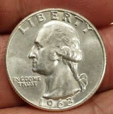 USA 1963-D WASHINGTON QUARTER 90% SILVER COIN