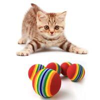 2X(10 Stk Super Cute Rainbow Toy Ball Kleine Hund Katze Pet Eva Spielzeug PH9T1)