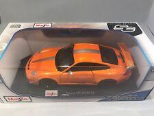 Porsche 911 GT3RS 4.0 1:18 Diecast Model Car Maisto Rare Brand New Pure Orange