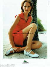 PUBLICITE ADVERTISING 026  2004  Lacoste collection  chaussures
