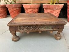 Coffee Tea Table Low Table Wooden Hand Carved 1840's Antique Table Rare Bazot