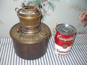 Victorian 1890's Brass Bradley & Hubbard Kerosene Banquet Lamp Font, Antique!