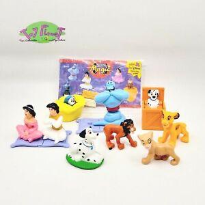 Disney Nestle Magic Mini Figure Toy Lot - Aladdin, Lion King, 101 Dalmatians