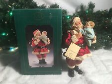 """NEW KSA COLLECTIBLES LIMITED EDITION FABRICHE SANTA """"HUGS AND KISSES"""" W1531"""