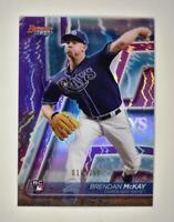 2020 Bowman's Best Base Purple #40 Brendan McKay RC /250 - Tampa Bay Rays