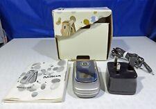 Nokia 2760 - (O2) Classic Flip Mobile Phone & Accessories - Colour Blue