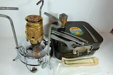 Old Vintage PRIMUS NO 210 Chrome Plated Camping Stove Paraffin Burner In Tin Ex