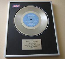 More details for phil collins sussudio platinum presentation disc