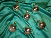 ~ 6 alte Christbaumkugeln Glas silber Christbaumschmuck Weihnachtskugeln Vintage