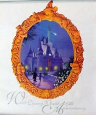 DISNEYWORLD 25th ANIVERSARY POSTER Embossed Lithograph Poster Unused Ex ++