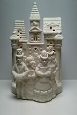 PartyLite Christmas Village Carolers 'N Church porcelain tea light candle #P0204
