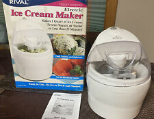 Electric Ice Cream Maker Frozen Yogurt/ SORBET Maker, Rival 1 Quart