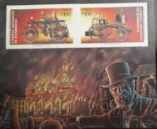 U) 1983, CHILE, OLD FIRE TRUCKS, CHILE CURRENCY HOUSE, SOUVENIR SHEET, MNH