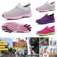 Women Air Cushion Sneakers Breathable Mesh Walking Slip-On Ladies Running Shoes