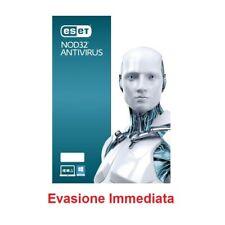Eset Nod32 Antivirus 2 Pc 1 anno licenza elettronica 1 Anno Versione completa 2