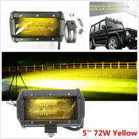 5'' 12/24V 72W 4D Yellow LED Car SUV Truck Off Road Spot Beam Working Fog Light