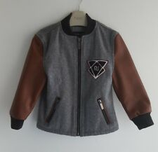 IMMACULATE River Island Boys Faux Leather Wool Biker Jacket __ 3 years/EUR 98