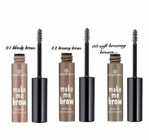 ESSENCE 'Make Me Brow' Taming Eyebrow Gel Mascara 3in1 Colour Fill & Shape GIMME