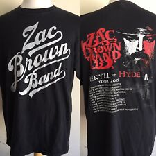 """ZAC BROWN BAND (2015) Jekyll & Hyde Tour Dates """"Vintage Washed"""" T-Shirt Size XL"""