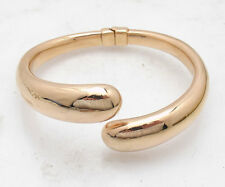 Bellezza MEDIUM Size Hinged Bangle Bracelet Rose Pink Gold Clad Bronze