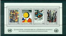 """Nations Unies  Géneve 1986 - Michel n. 147/50 - feuillet n.4  -  """"WFUNA"""""""