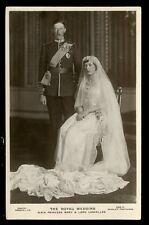 Royal Wedding HRH Princess Mary Lord Lascelles RP PPC 1922