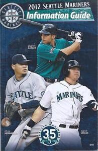 2012 Seattle Mariners Baseball Media Guide - Felix Hernandez Justin Smoak cover