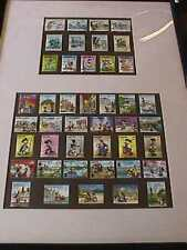 Disney Anguilla Bhutan Stamp Lot Of 43 Framed