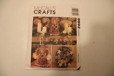 MCCALLS CRAFTS 8892 THE COUNTRY ANGEL, WREATH, TREE TOPPER, STOCKING, ORNAMENTS