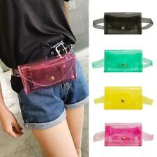 Pure Color Clear Fanny Packs Waist Bags Women PVC Small Transparent Jelly Bag